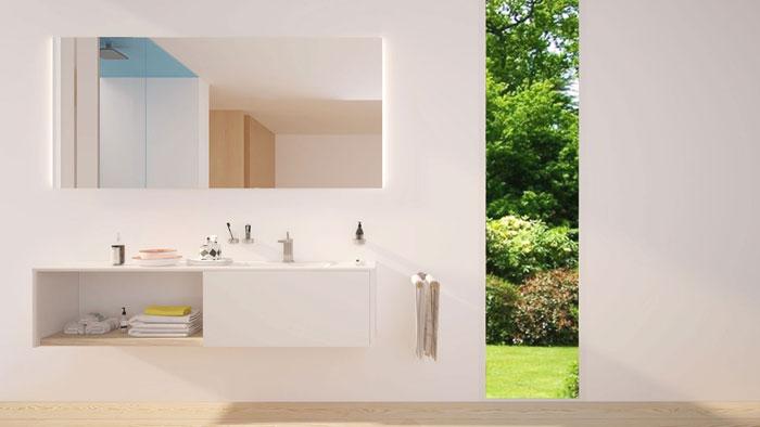 Badspiegel, Badezimmerspiegel mit Beleuchtung und nach Maß