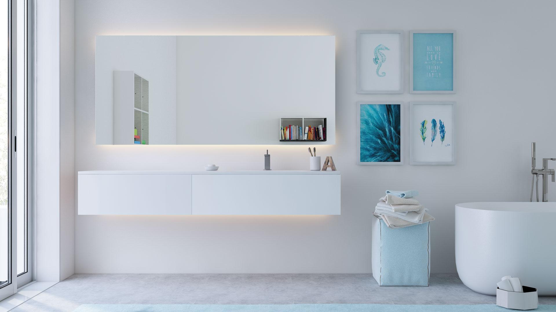 Badspiegel beleuchtet! LED - Badspiegel mit Beleuchtung und ...