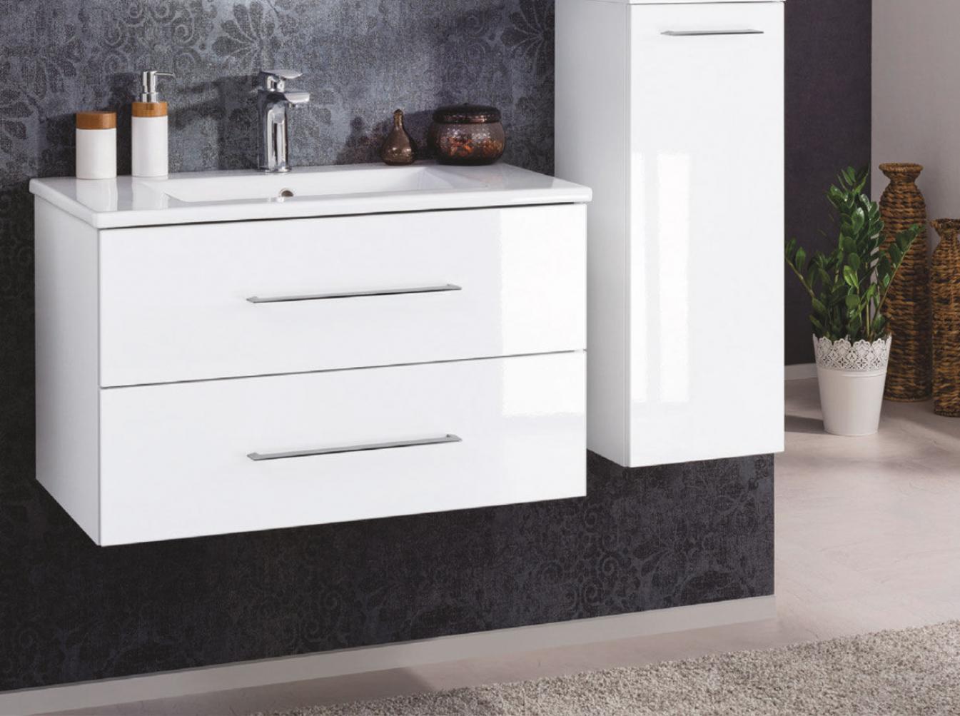 fackelmann waschtisch mit unterschrank 80cm wei. Black Bedroom Furniture Sets. Home Design Ideas