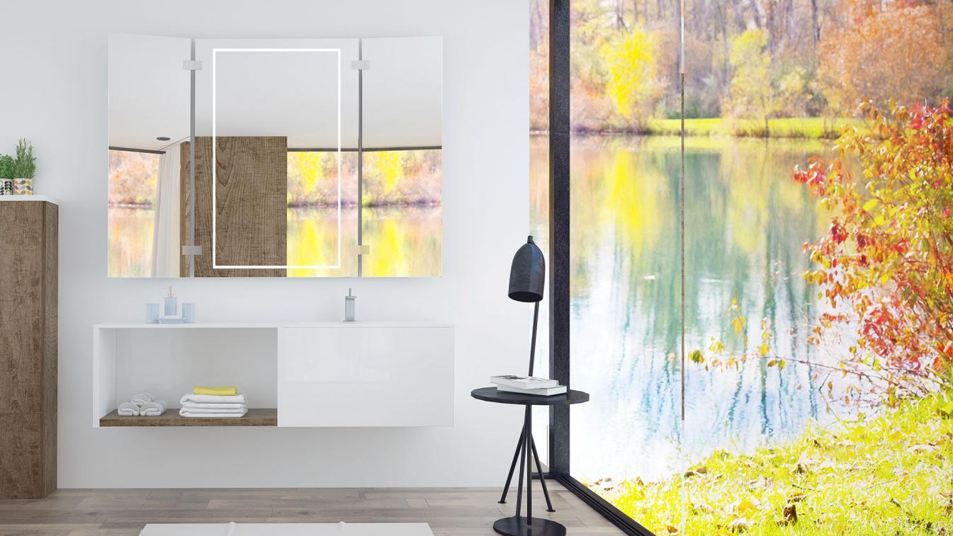 angoras ist ein badspiegel klappspiegel mit led beleuchtung. Black Bedroom Furniture Sets. Home Design Ideas