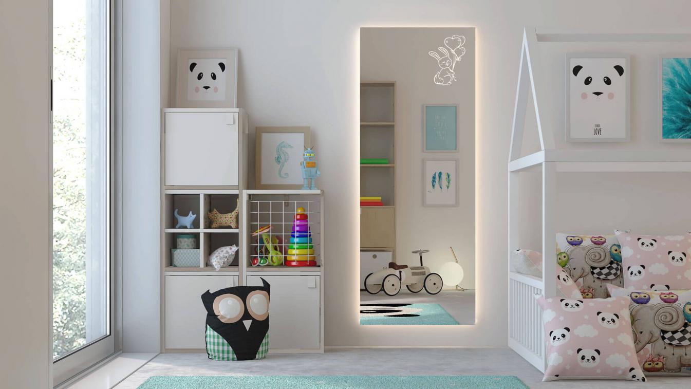 kinderzimmer spiegel bunny von gl cksmoment. Black Bedroom Furniture Sets. Home Design Ideas