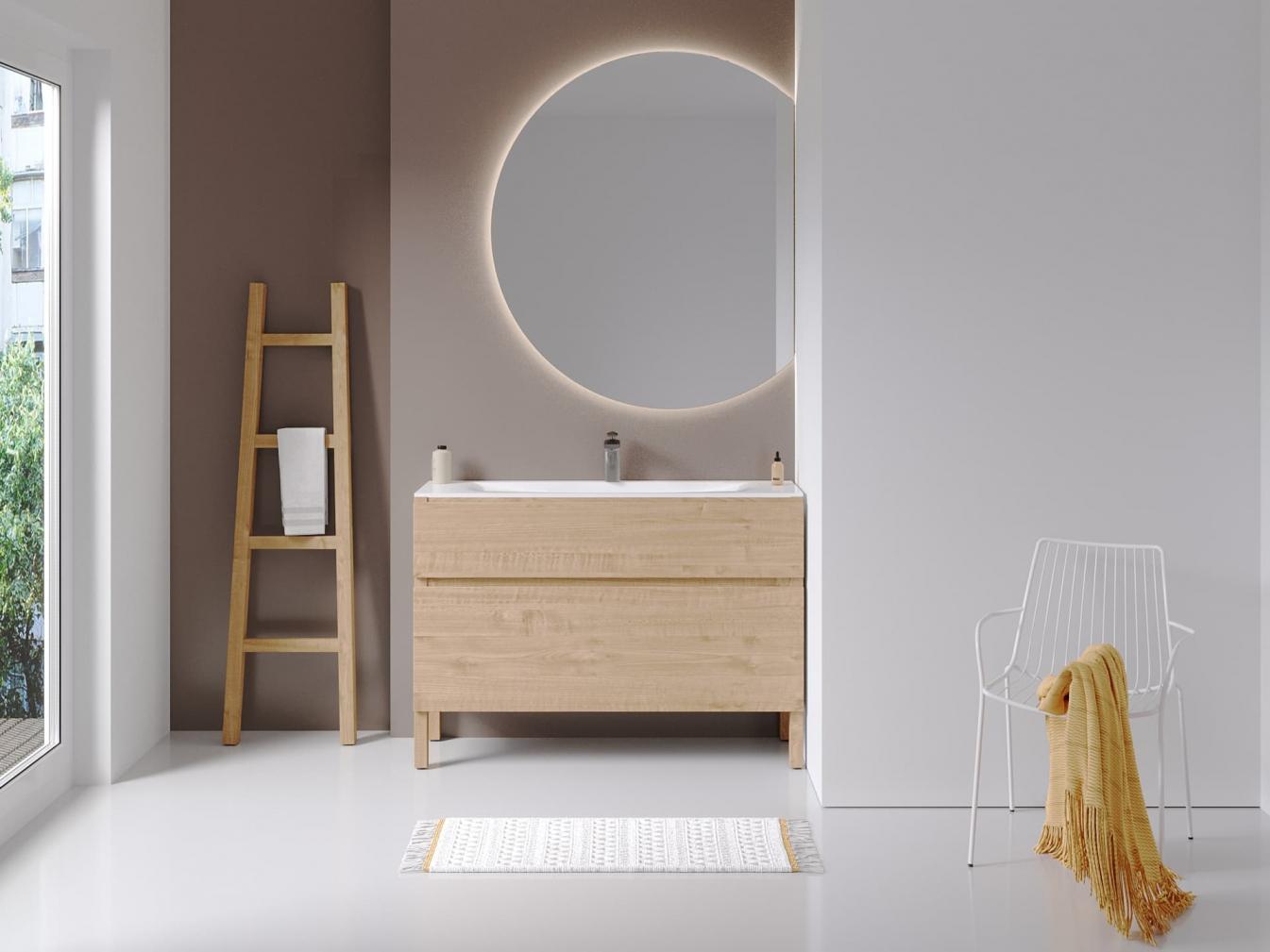 Halbrunder Badspiegel auch mit Bluetooth Lautsprecher möglich!