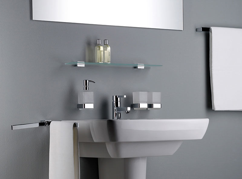 emco loft glashalter beh lter aus satiniertem kristallglas. Black Bedroom Furniture Sets. Home Design Ideas