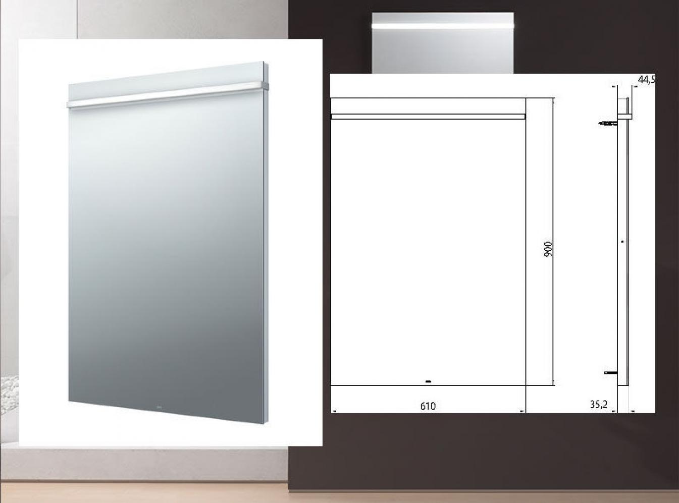 emco select led lichtspiegel 60 cm. Black Bedroom Furniture Sets. Home Design Ideas