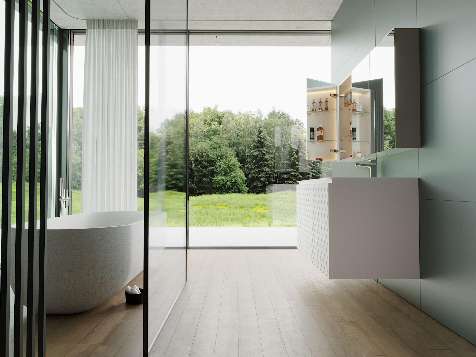 LED Badspiegelschrank beleuchtet nach Maß