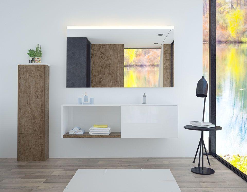 Badspiegel Adria Mit Beleuchtung Oben
