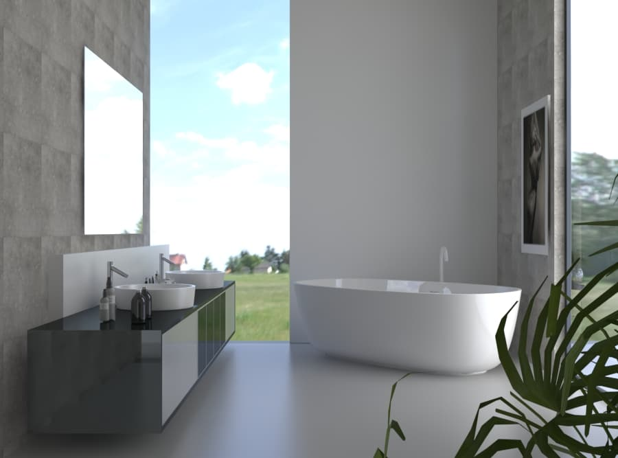 Badspiegel, Badezimmerspiegel mit LED - Beleuchtung