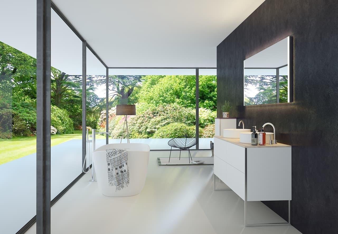 Kleiner badspiegel cool kleiner wandspiegel aus massivem - Spiegel facettenschliff rahmenlos ...