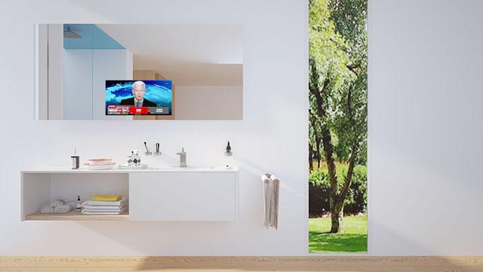 an einen spiegel mit tv werden hohe ansprche gestellt zum einen muss es funktionell sein